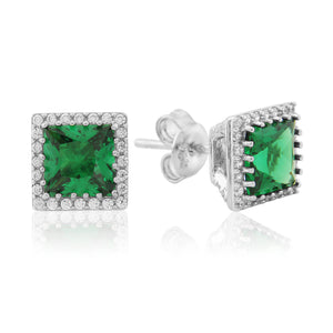 WE193 Waterford Emerald Earrings