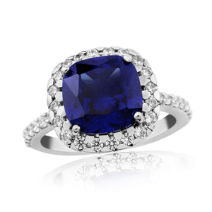 WR221 Waterford Sapphire Cushion Ring