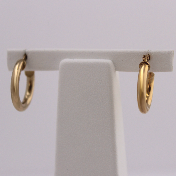 10kt Yellow Gold Hoops 1