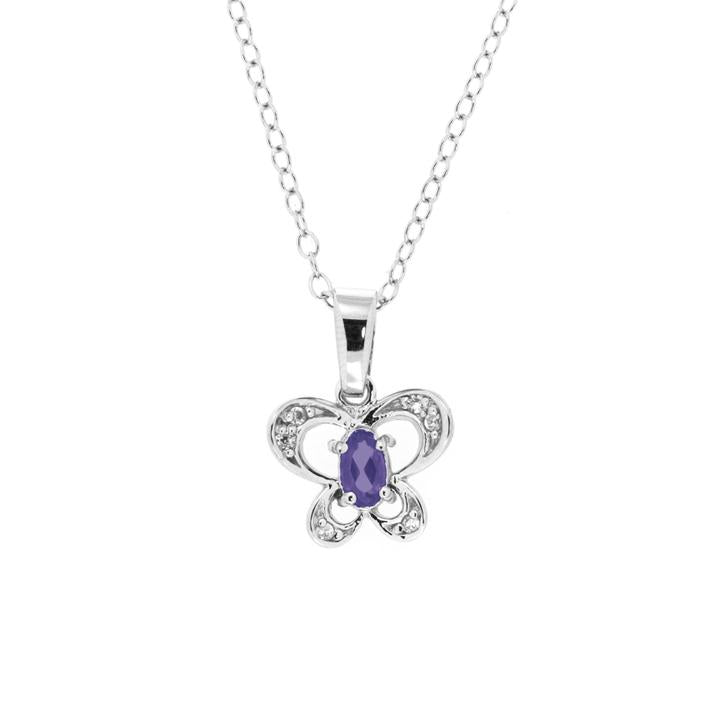 Legend Birthstone Butterfly Necklace - Design by Jesse