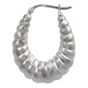 Silver Fashion Hoops