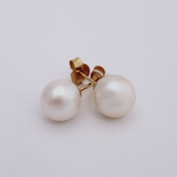Cultured Pearl Studs - Design by Jesse