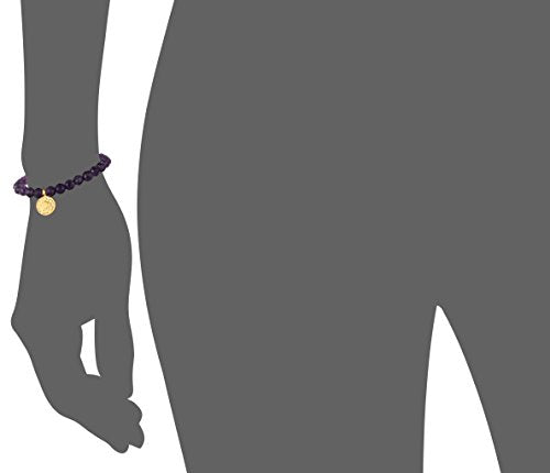 Amethyst Gold Plated Crown Chakra Stretch Bracelet