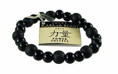 Onyx Power and Success Genuine Gemstone Bracelet  Healing Energy Beads