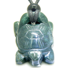 Lucky Charm Turtle Indian Green Agate Good Luck Powers Pendant