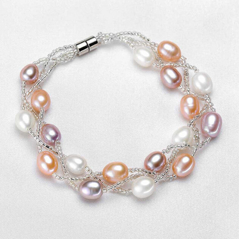 Pearl Multi Colour Bracelet 5-6mm