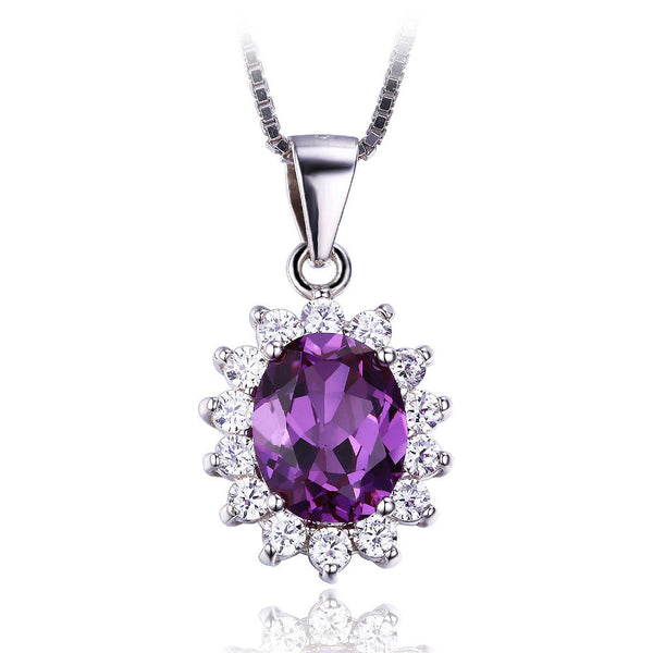 Alexandrite Sapphire Pendant 925 Sterling Silver