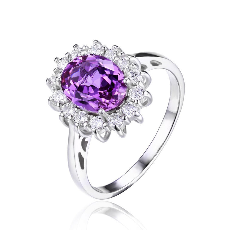 Alexandrite Sapphire Ring 925 Sterling Silver