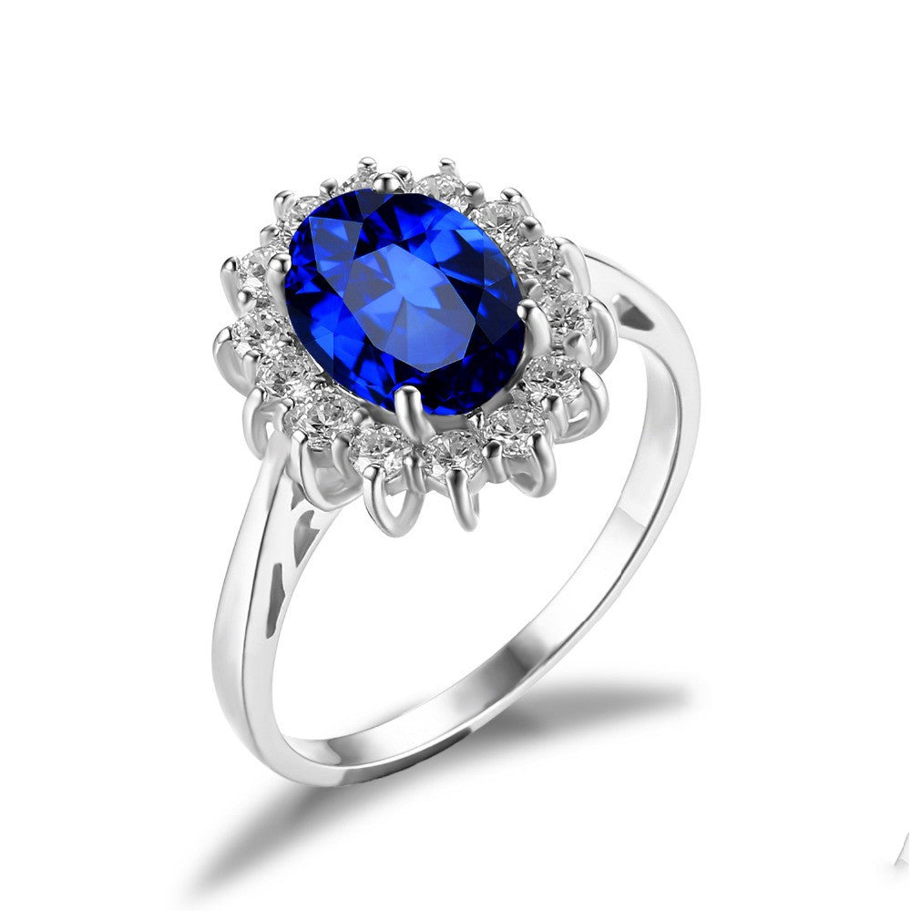 Blue Sapphire Classic Silver Ring