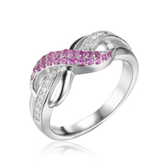 Forever Love Infinity Sapphire  Ring