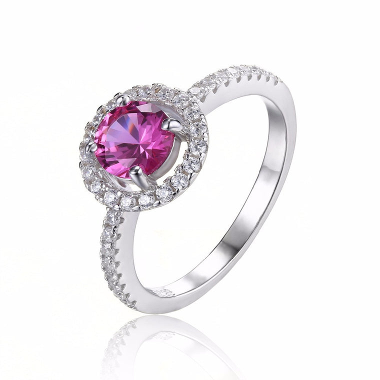 Pink Sapphire 925 Sterling Silver Ring