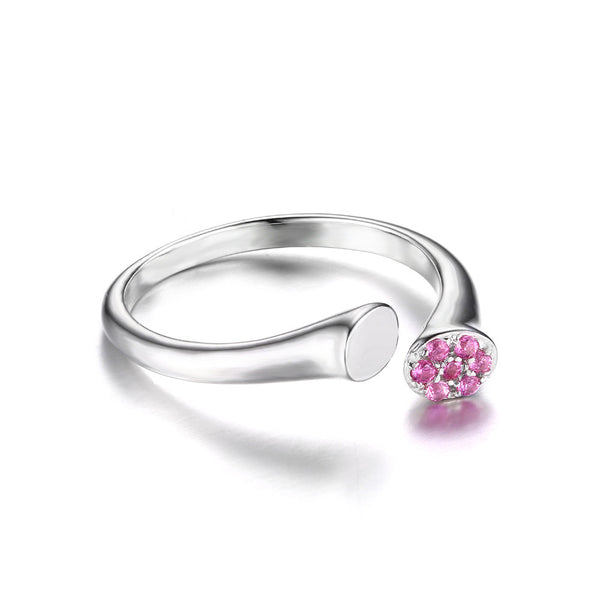 Pink Sapphire Wrap Ring 925 Sterling Silver
