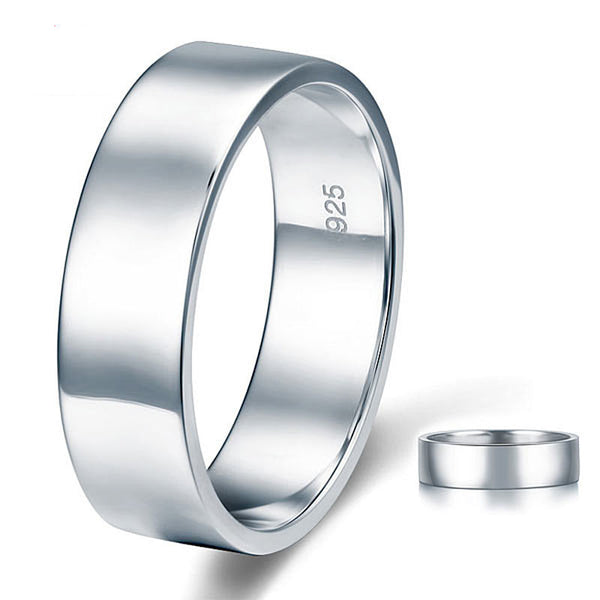 Polished Men's Solid Sterling Solid Silver Ring