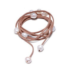 Baroque Pearl Leather Bracelet