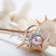 925 Sterling Silver natural Pearl ring