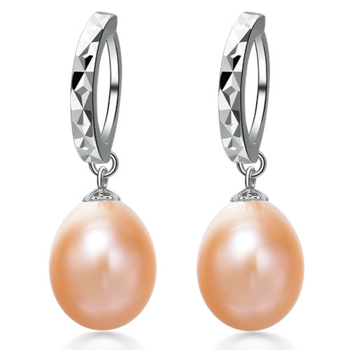 Pearl Earrings, 9MM Natural Pearl