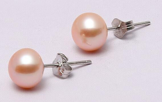 Freshwater Pearl Earrings 925 Sterling Silver