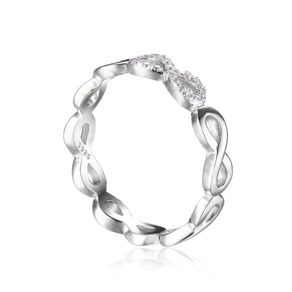 Infinity Forever Love  Ring Pure Sterling Silver