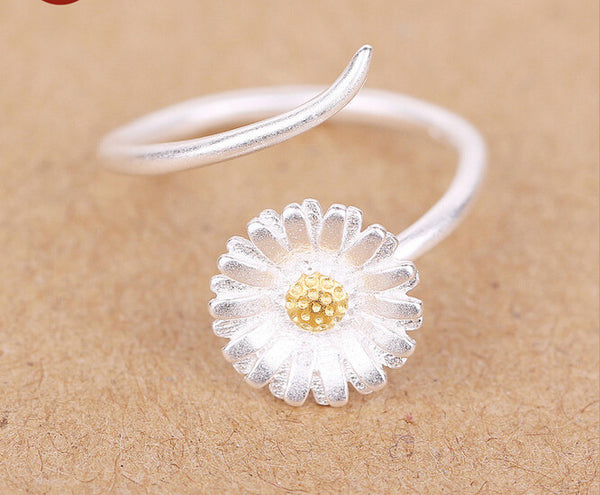 Adjustable Golden Sun Flower Midi Toe Ring