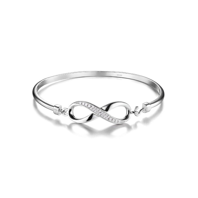 Infinity Bracelet Pure Sterling Silver