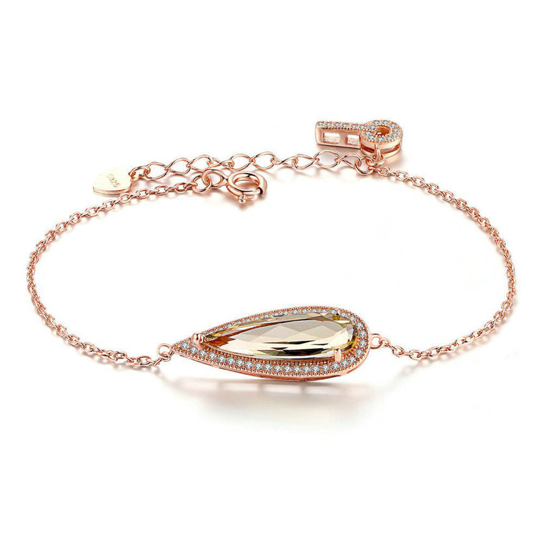 Rose Gold Plated Citrine Bracelet