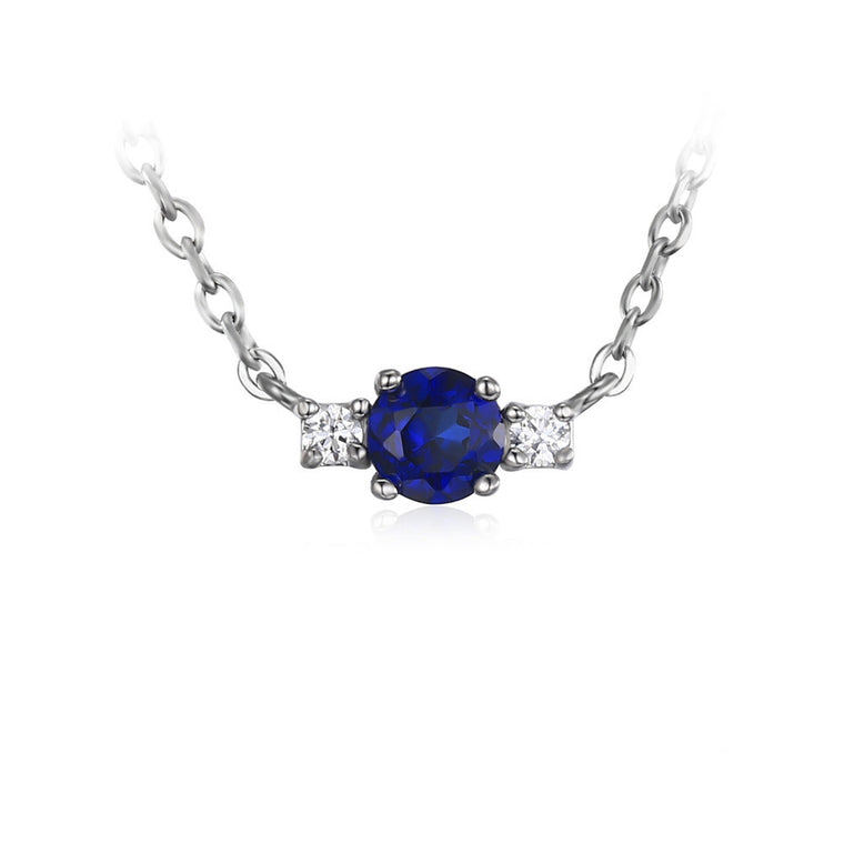 Sapphire and CZ Accent pendant