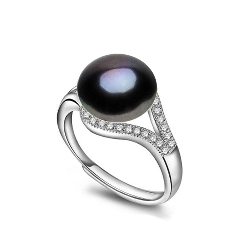 Freshwater Pearl Black Ring