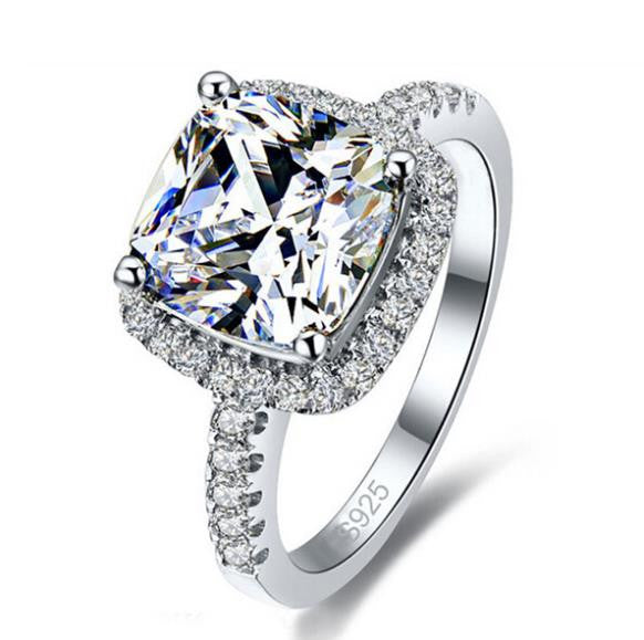 Sterling Silver Super Shiny CZ Ring