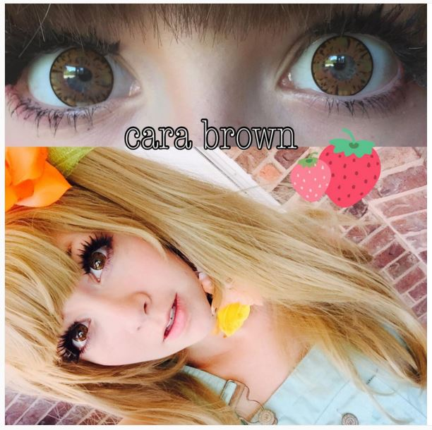 OhMyKitty4u : Review of i.Fairy Cara Brown contacts  by @quackiess