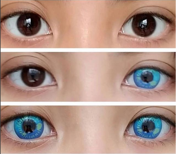 OhMyKitty4u : Review of Coscon Anime Blue lenses from  @maridoot