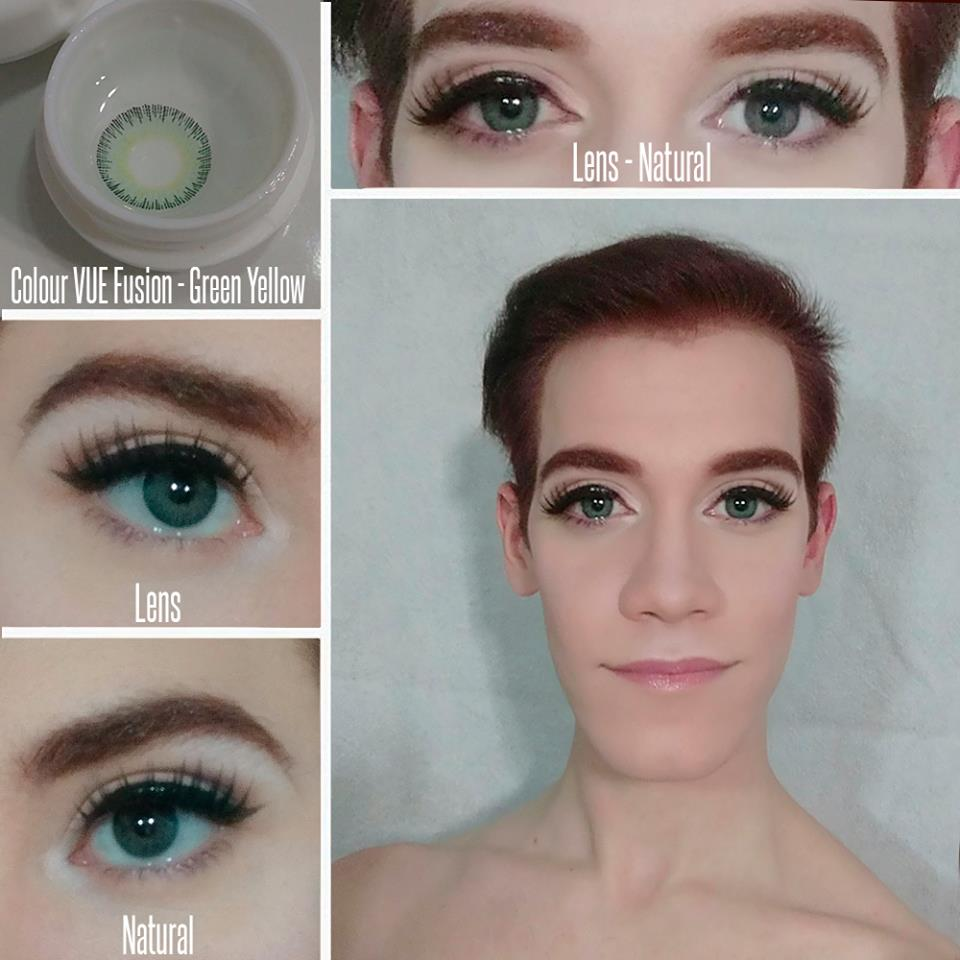 OhMyKitty4u : Review of  colourvue fusion- green yellow by @Ventura Cosplay