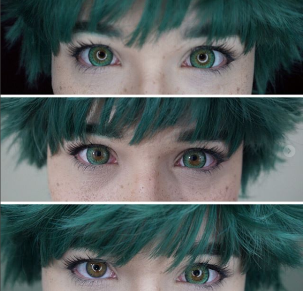 OhMyKitty4u : Review Puffy 3 tones green lenses  by @cellaira