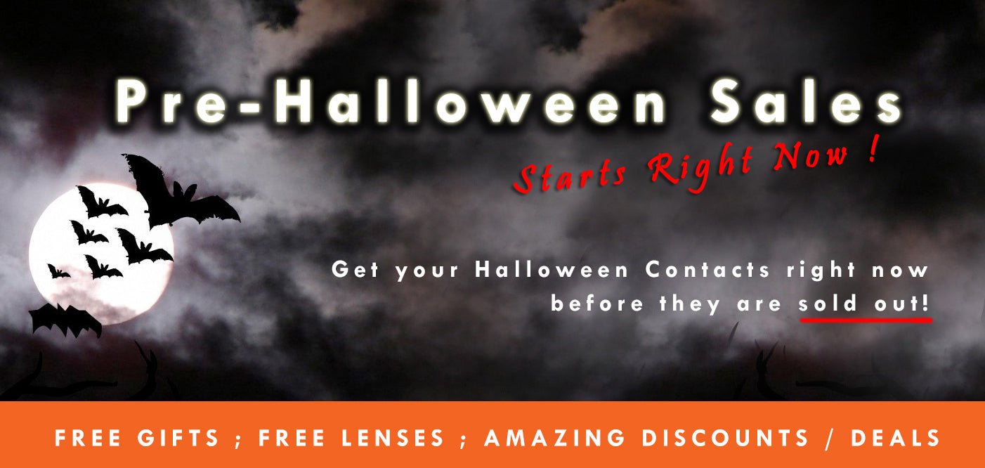 ohmykitty hand picked over 100 different types of contacts that would be perfect for your halloween we have added extra discounts and free gifts when you - Halloween Sales