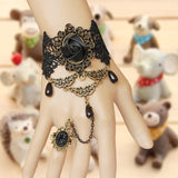 Black Vintage Gothic Style Hand Harness / bracelet - Ohmykitty Online Store
