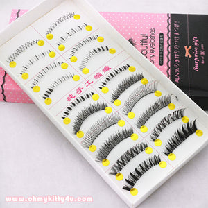 10 different types of Top & Bottom Eyelashes