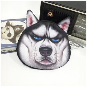 Dog Coin Zipper Pouch (Husky)
