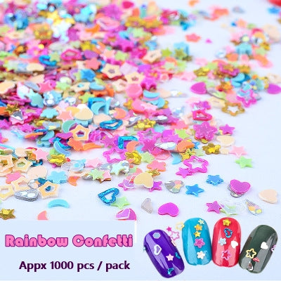 Mini Holographic Sprinkles for Face & Nails - Ohmykitty Online Store