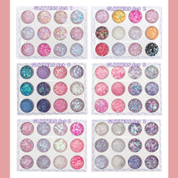 Face , Body and Nail Glitter (12 types in a set) - Ohmykitty Online Store