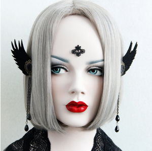 Black Gothic Demon Earcuff - Ohmykitty Online Store