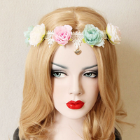 Colorful Pastel Rose Headband - Ohmykitty Online Store