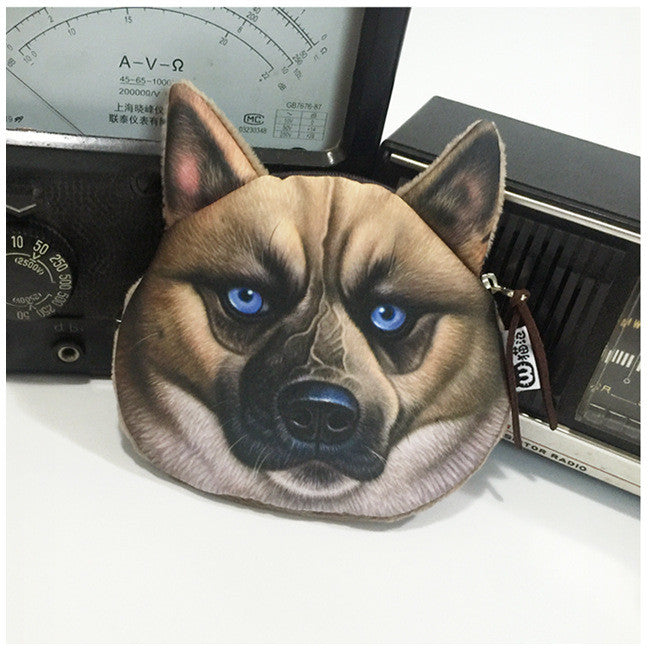 Dog Coin Zipper Pouch (German Shepherd)