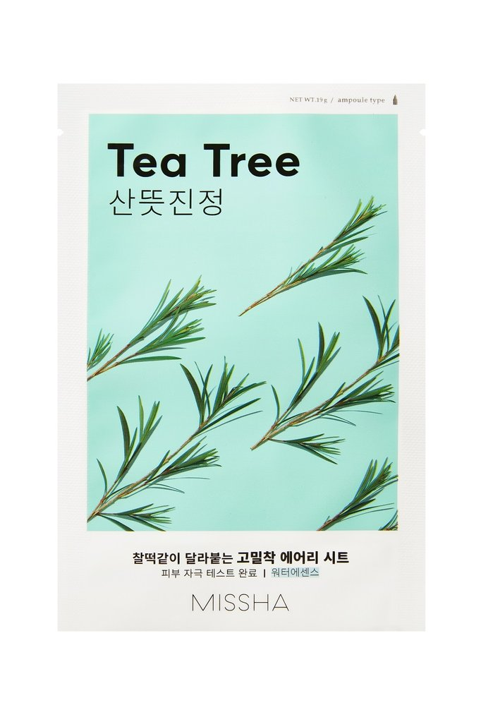[Missha] Airy Fit Sheet Mask (Tea Tree)  x 1pc - Ohmykitty Online Store