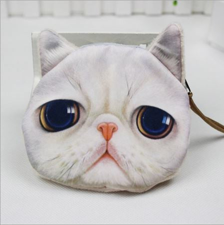 Cat Coin Zipper Pouch (B)
