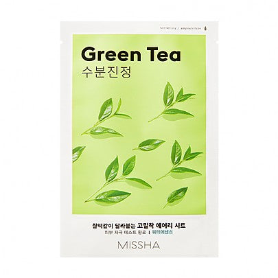 [Missha] Airy Fit Sheet Mask (Green Tea)  x 1pc - Ohmykitty Online Store
