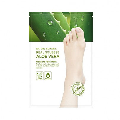 [Nature Republic] Real Squeeze Aloe vera Moisture Foot mask - Ohmykitty Online Store