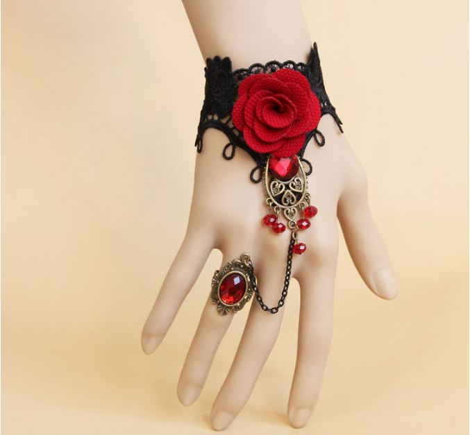 Red Ruby Rose Gothic Harness