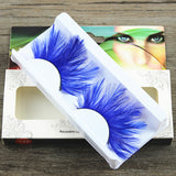 Blue Light Feather Eyelashes (Halloween / Stage effect) - Ohmykitty Online Store