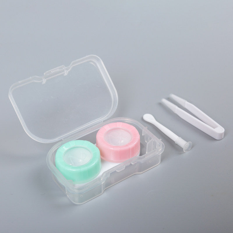 Simple Pastel Duo Color Lens Case Kit - Ohmykitty Online Store