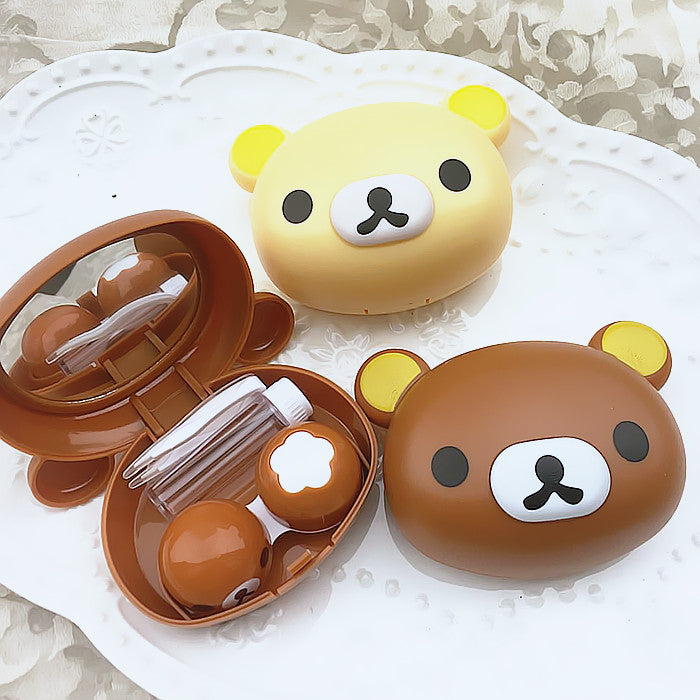 Rilakkuma Head Cute Lens Case - Ohmykitty Online Store