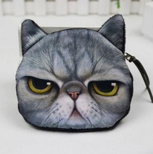 Cat Coin Zipper Pouch (C)